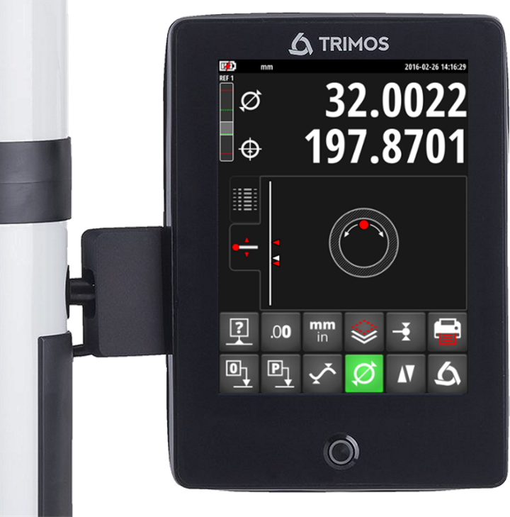 Trimos touch display
